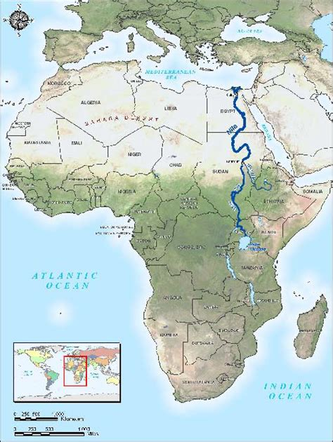 nile river on a africa map mr w reads in ancient times