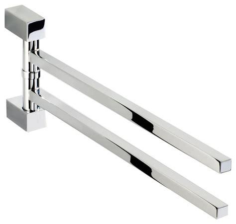 swivel swing hanger double swing out towel bar holder 2 folding arm swivel