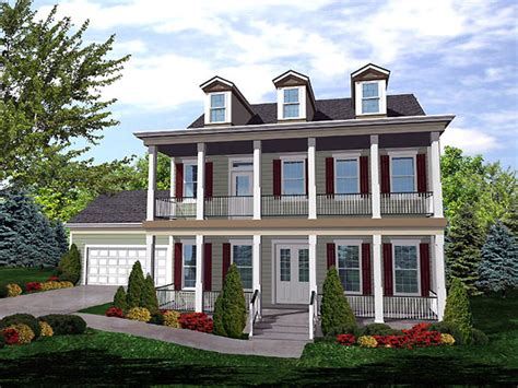 House Plans With Balcony On Second Floor by Second Floor Balcony House Plan Hunters