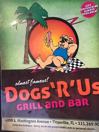 dogs r us titusville dogs r us american restaurant 4200 s washington ave in