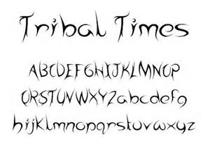free to download tribal tattoo fonts best design options