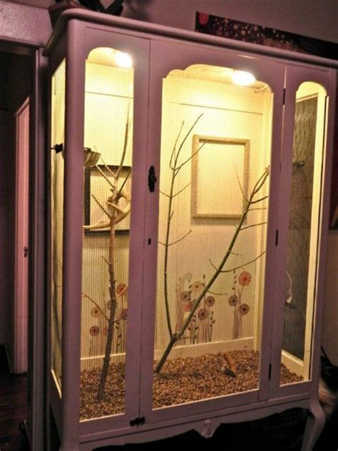 Build a bird cage out of a wardrobe.   Neat Stuff and Cool