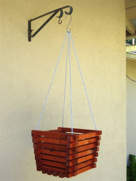 Wood Hanging Planter by 1000 Images About Wood Planters Hanging Planters On