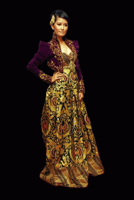 design batik kebaya fashionloly glamour with original modern kebaya indonesia