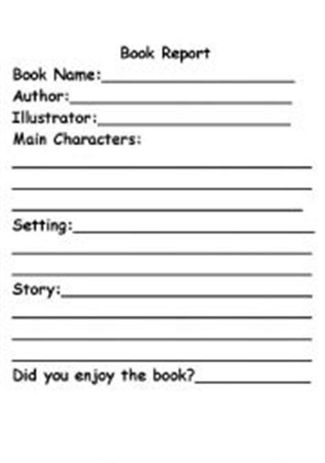 simple book report template teaching worksheets book report