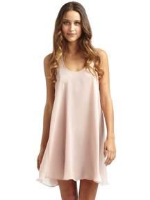 donna karan satin short nightgown in pink lyst