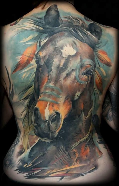 war horse native american horse indian horse tattoo