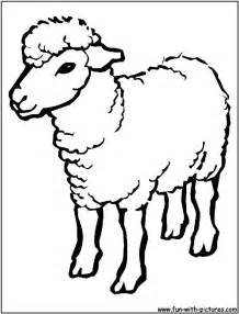 Sheep Outline Drawing Coloring Page Sheep Cartoon Images Sheep Coloring Pages Preschool
