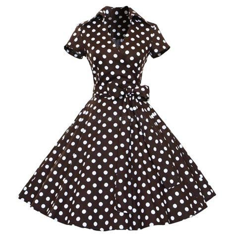 50 S Swing by 50s 60s Retro Hepburn Style V Neck Swing Lapel Rockabilly
