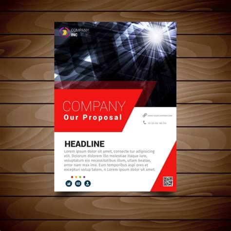 modern brochure design templates modern brochure design template free vector in