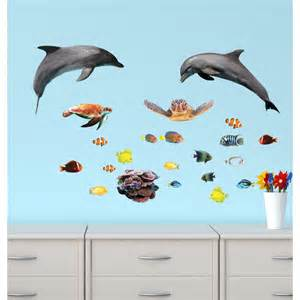 Dolphin Wall Stickers Reusable Wall Stickers With Sharks Sticker For Children