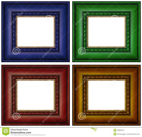 colorful picture frames colorful picture frames stock photo image of copy wooden