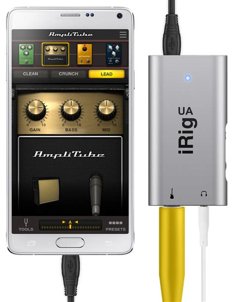 format audio pour android ik multmedia irig ua et amplitube ua pour android