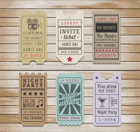 free printable vintage ticket template 9 vintage ticket templates free psd ai vector eps