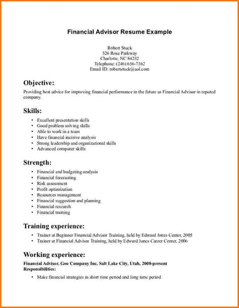 financial planner resume sle 100 what is a resume supposed to look like 3 steps to