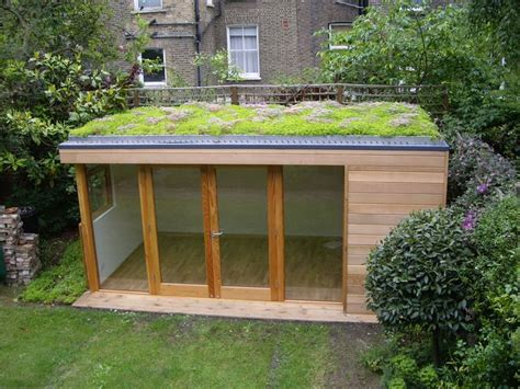 Flat Roof Garden Sheds by Environment Sedum Roof And Energy Consumption