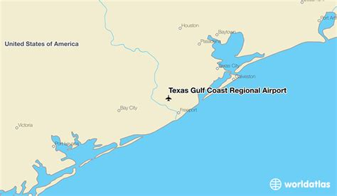 map of texas gulf coast region texas gulf coast regional airport ljn worldatlas