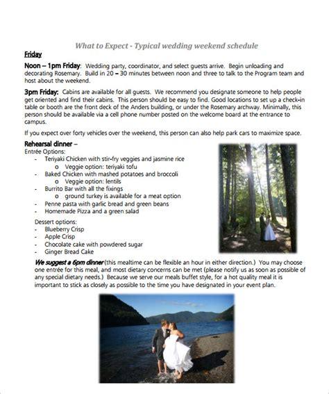 sle wedding schedule 9 documents in pdf