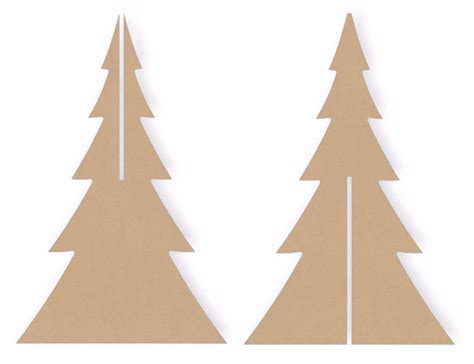 wooden christmas tree pattern plans two sets of 12 inch tall interlocking standing wooden