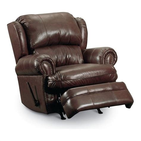 lane leather recliner chair lane furniture hancock leather recliner in savaughed brown