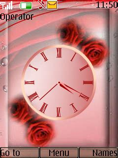 clock themes wap in download rose clock nokia theme mobile toones