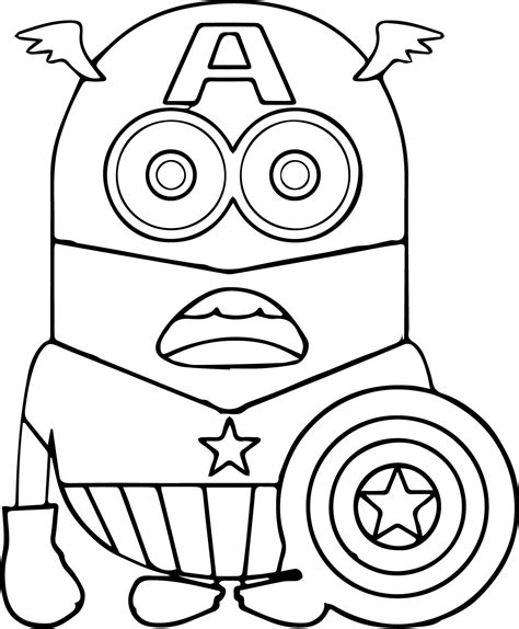 iron man minion coloring page superhero marvel captain america coloring pages