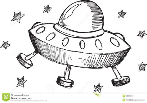 doodle ufo doodle ufo vector stock vector illustration of
