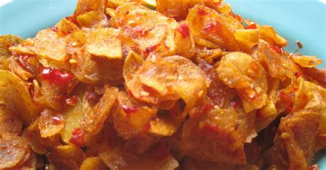 resep keripik kentang pedas manis renyah info resep masakan