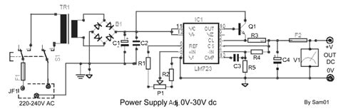 high c supply circuits apmilifier 2n3055 ua723 power supply adjustable