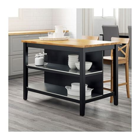 stenstorp kitchen island stenstorp kitchen island black brown oak 126x79 cm ikea