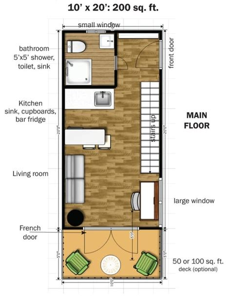 Simple Elegance In This Two Story 350 Sq Ft Micro Home Plans For Micro Homes