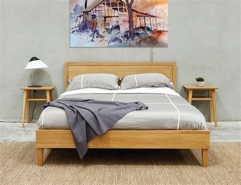 european size bed frames copenhagen size solid european oak bed frame by bent