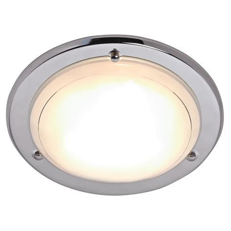 How To Fit A Ceiling Light Wilko Flush Fitting Ceiling Light Chrome Effect At Wilko