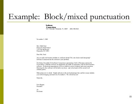 personal business letter open punctuation activity lecture 05 writing a business letter