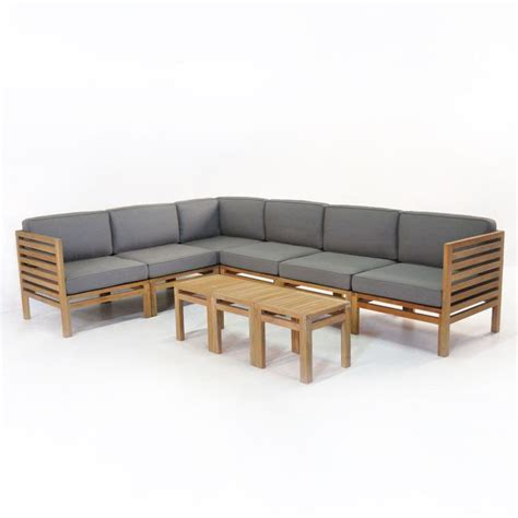 Teak Garden Furniture Warehouse Modular With Symmetrical Lines The Spa Collection Of