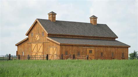 Barnhouses traditional wood barn great plains western horse barn