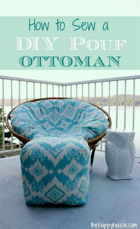outdoor poufs and ottomans how to sew a diy pouf ottoman indoor or outdoor pouf