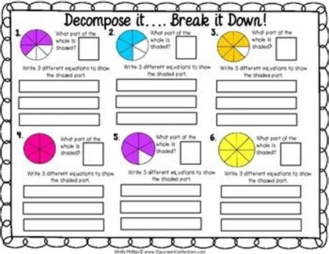 Decompose Fractions Worksheet by 17 Best Images About Decomposing Fractions On
