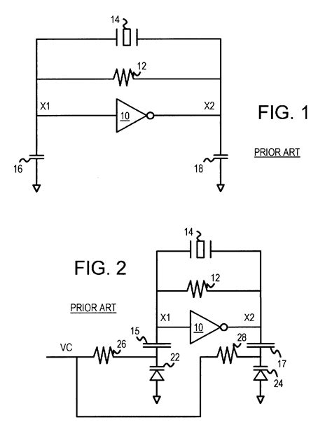capacitor controlled oscillator patent us6628175 voltage controlled oscillator vcxo using mos varactors coupled to