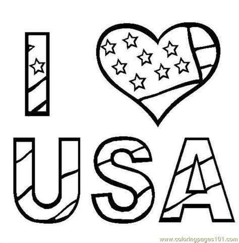 coloring pages usa i love usa coloring page free printable coloring pages