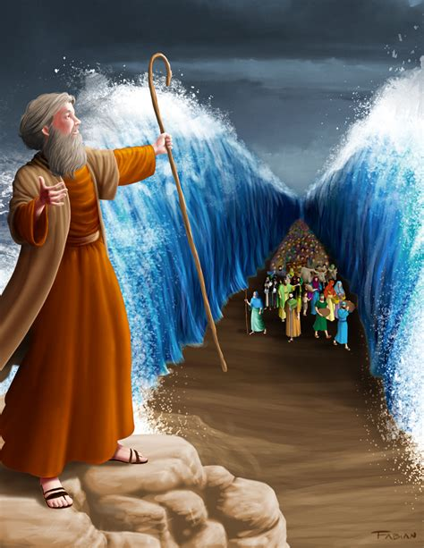 moses and the sea by designed one on deviantart