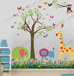 owl tree butterfly wall stickers animal decor mural decal nursery amp animals sticker kids room ebay