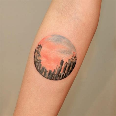watercolor tattoo edinburgh watercolor cityscape ideas