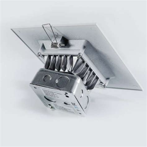led lights that fit in junction box 6 quot 15w square trim led can light with junction box led king