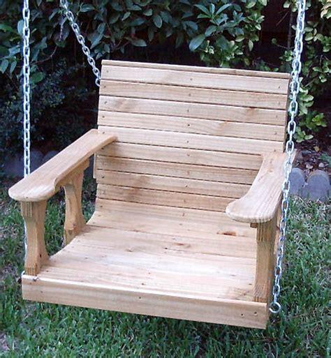 single person porch swing cedar creek woodshop porch swing patio swing picnic