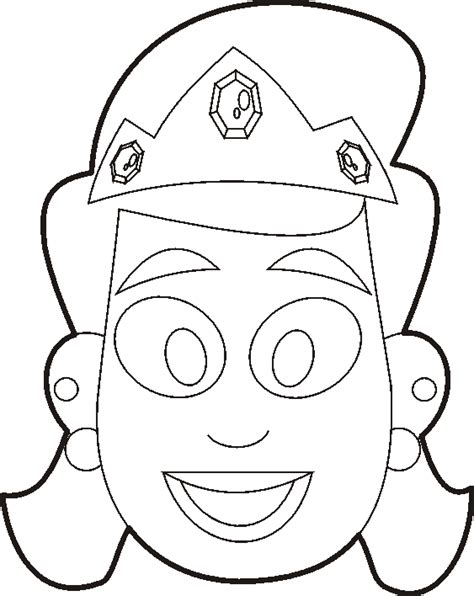 purim mask colouring pages sketch coloring page