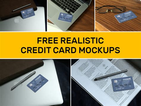Credit Card Mockup Template Realistic Credit Card Mockup Theme Raid