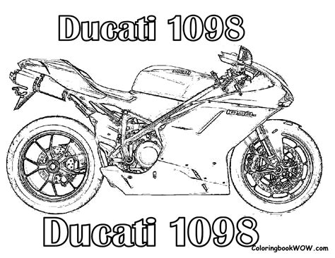 Ducati Motorcycle Coloring Pages   free coloring pages of ducati
