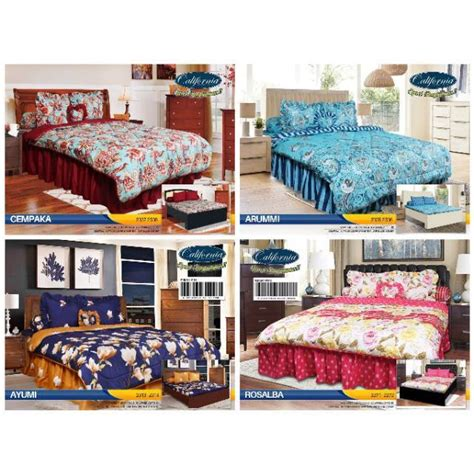 180 Bed Cover California Esme No 1 juragan bedcover set california king 180x200 bed cover