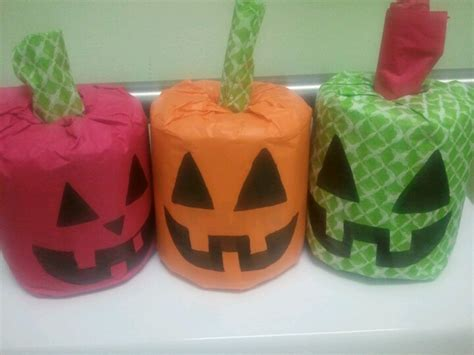 Toilet Paper Pumpkin Craft - toilet paper pumpkins